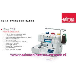 Elna 745 lockmachine + GRATIS AFVALZAK + 5 Jaar garantie / 001000