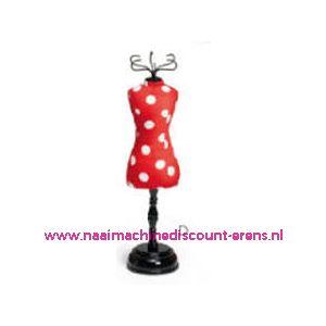 010152 / Speldenkussen pasvorm Polka rood/wit art. nr. 610318