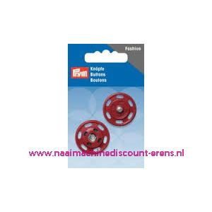010312 / Drukknoop 25 Mm rood prym art. nr. 341832
