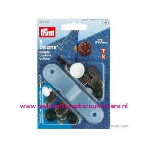 010442 / Jeansknopen brons 8 stuks 17 Mm inslaan Prym art. nr. 622241
