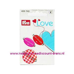 010459 / Prym Love Handmade pins oranje/rose prym art. nr. 403742