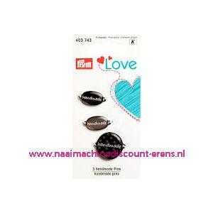 010460 / Prym Love Handmade pins zwart/grijs prym art. nr. 403743