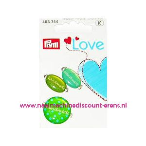 010462 / Prym Love Handmade pins groen prym art. nr. 403744