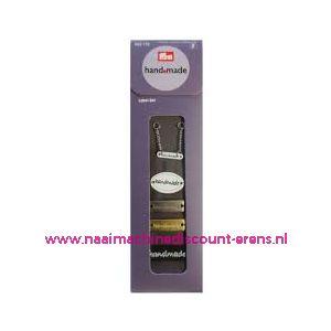 010464 / Handmade label set metaaliek prym art. nr. 403775