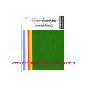 010781 / Knippatronen Doordrukpapier 5 Kleuren