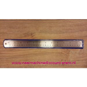 010786 / Metalen liniaal in 30 CM en 12 INCH