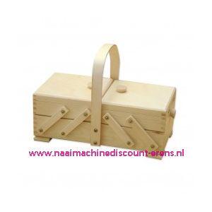 010880 / Houten naaibox blank art.31/132  Artikel 161050 2 etages