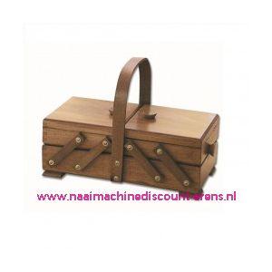 010881 / Houten naaibox rustiek art.31/132  Artikel 016105 2 etages