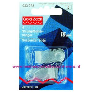 010899 / Jarretelhanger 15 Mm Plastiek Transparant art. nr. 933753