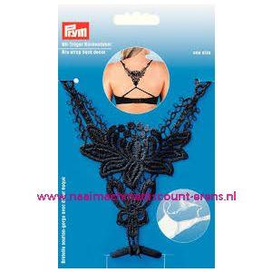 010943 / BH-bretel met rugdecor zwart Prym art. nr. 991944