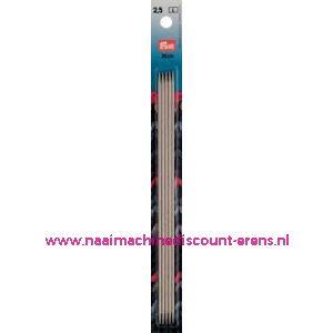 Kousenbreinaalden Staal Zilverkl.20 Cm 2,50 Mm art.nr.171237 / 001102