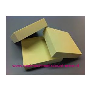 011271 / Schuim rubberplaat Polyester dik 5 Cm 50 x 50 Cm