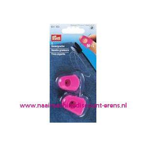 011474 / Naaldgrijpers silicoon rose M + L