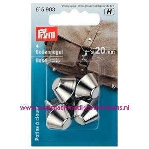 011487 /  Bodemnagels v.tassen   Ø 20 mm zilverkleurig prym 615903