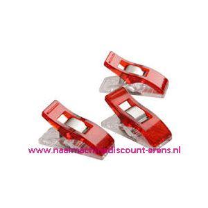 011786 / Wonder Clips 50 stuks kleur rood
