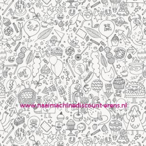 011804 / FABRIC PRINTED COLOURING ACTIVITY 50/70CM 500060.660 STOF