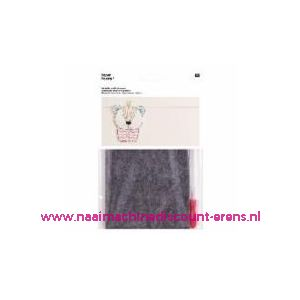 011832 / Rico prikvilt met priknaald voor diverse doeleinden hobby