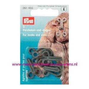 001199 / Bonthaken En-Ogen St Grijs prym art.nr. 261455