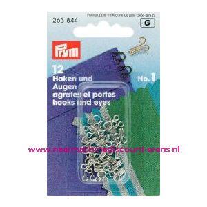 001204 / Haken En Ogen Ms 1 Zilverkleurig prym art. nr. 263844