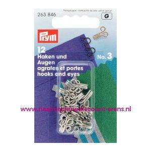 001206 / Haken En Ogen Ms 3 Zilverkleurig prym art. nr. 263846