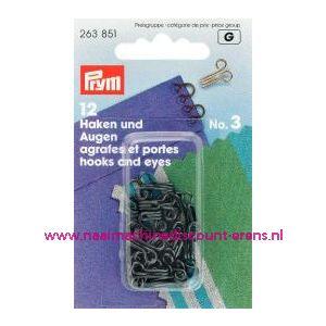 001209 / Haken En Ogen Ms 3 Zwart prym art. nr. 263851
