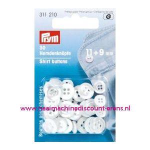 001237 / Polyesterknopen Kst 18 Inch Paarlemoer 11+9 Mm art.nr.311210