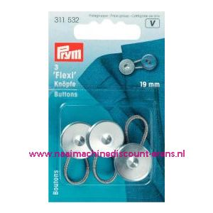 001240 / Flexi Knopen Met Lus 19 Mm prym art. nr. 311532
