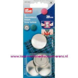 001241 / Stofknopen Ms 45 Inch Zilverkleurig 29 Mm art. nr. 323163