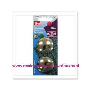 001242 / Stofknopen Ms 60 Inch Zilverkleurig 38 Mm art. nr. 323164