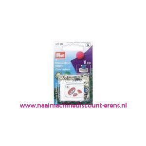 001243 / Stofknopen Ms 18 Inch Zilverkleurig 11 Mm art. nr. 323214