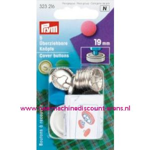 001245 / Stofknopen Ms 30 Inch Zilverkleurig 19 Mm art. nr. 323216