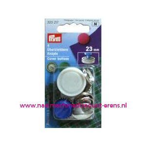 001246 / Stofknopen Ms 36 Inch Zilverkleurig 23 Mm art. nr. 323217