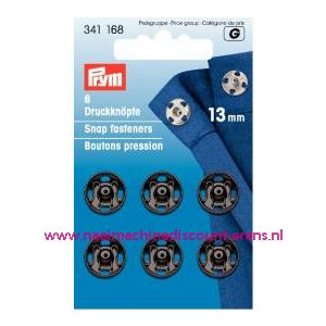 001253 / Drukkers Ms Zwart 13 Mm prym art. nr. 341168