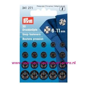 001266 / Drukkers Ms Zwart 6-11 Mm prym art. nr. 341271