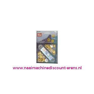 001321 / Naaivrijdrukknopen Color Ms Geel 13 Mm Prym art. nr. 390429