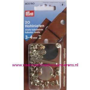 001341 / Holnieten 3-4 Mm Materiaaldikte Ms Zilverkl.nr.403150