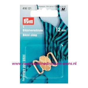 001360 / Bikinisluiting Metaal 12 Mm Goudkleurig prym art.nr. 416121