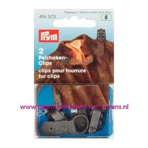 001377 / Clips Voor Bonthaken Bruin prym art. nr. 416501