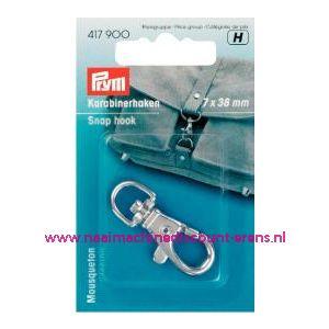 001385 / Karabijnhaak 7/38 Mm Zilverkleurig Prym art. nr. 417900