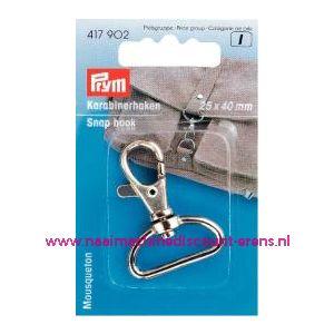 001386 / Karabijnhaak 25/40 Mm Zilverkleurig Prym art. nr. 417902