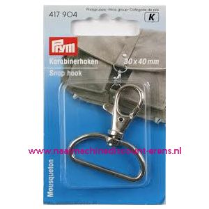 001387 / Karabijnhaak 30/40 Mm Zilverkleurig Prym art. nr. 417904