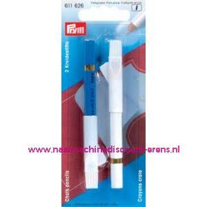 001485 / Krijtpotloden Wit/Blauw Prym art. nr. 611626
