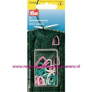Stekenmarkeerringen Kst Ass.Kleuren Prym art. nr. 611868 / 001518