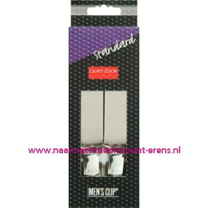001582 / Men Clips Standaard 110 Cm 25 Mm Zilvergrijs art. nr. 944104