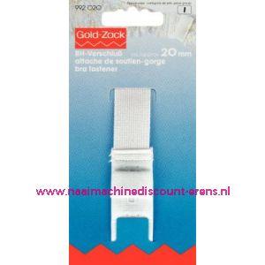 001627 / Bh-Sluiting Met Huidbescherming 3Sl. 20 Mm Wit art.nr.992020