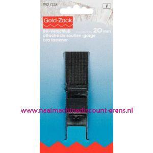 001628 / Bh-Sluiting Met Huidbescherming 3Sl. 20 Mm Zwart art.992023