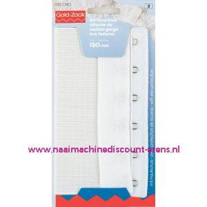001637 / Bh-Sluiting Met Huidbescherming 2Sl. 150 Mm Wit art.nr992090