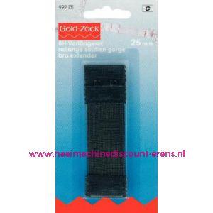 001643 / Bh-Verlengstuk 25 Mm Zwart  2 haakjes art. nr. 992131
