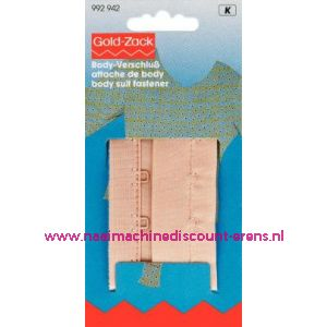 001676 / Bodystocking-Sl. Met Haken En Ogen 75 Mm Huidkl.art.nr992942