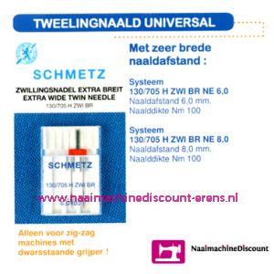 001724 / Tweeling Universal 130.705 H-ZWI-100  6,0 mm.